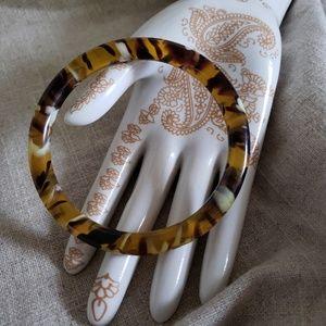 Vintage Tortoise Lucite Tiger Striped Bracelet